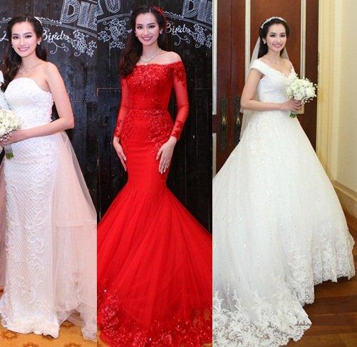 Tuyển tập váy cưới nổi bật của sao Việt năm 2015 - 9