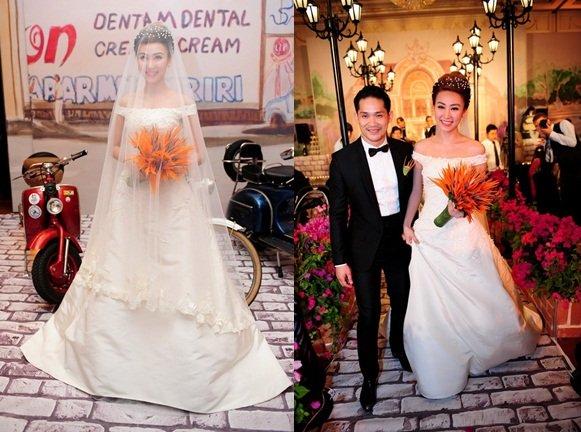 Tuyển tập váy cưới nổi bật của sao Việt năm 2015 - 7