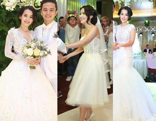 Tuyển tập váy cưới nổi bật của sao Việt năm 2015 - 10